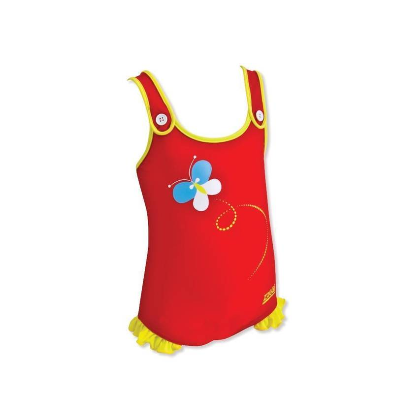 Zoggs Badeanzug Adventure Bay Classic Back Junior  Red